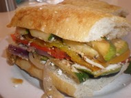 Roasted Veggie Torte Sandwich
