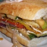 Roasted Veggie Torte Sandwich
