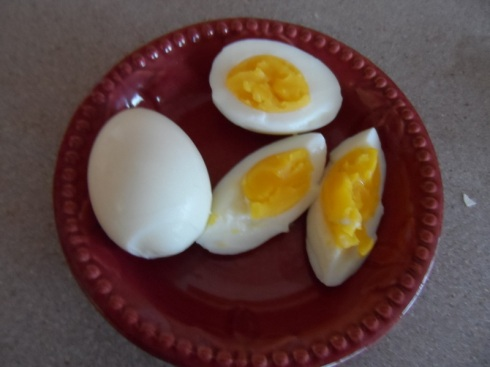 Gloriously Golden Hard-boiled Eggs