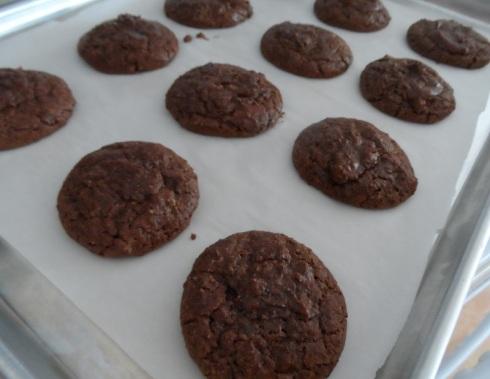 Chocolate Almond Macaroon Cookies